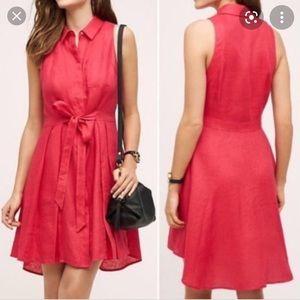 HD in Paris - pink linen dress
